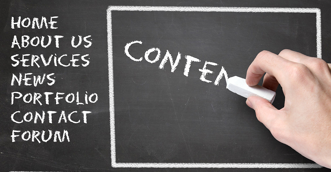 Content needed for websites: what's important?