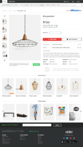 Superbalist ecommerce product page design