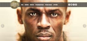 Usain Bolt website screenshot