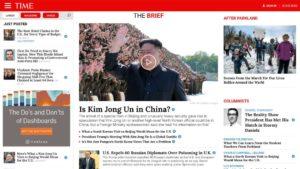 Time Magazine WordPress website