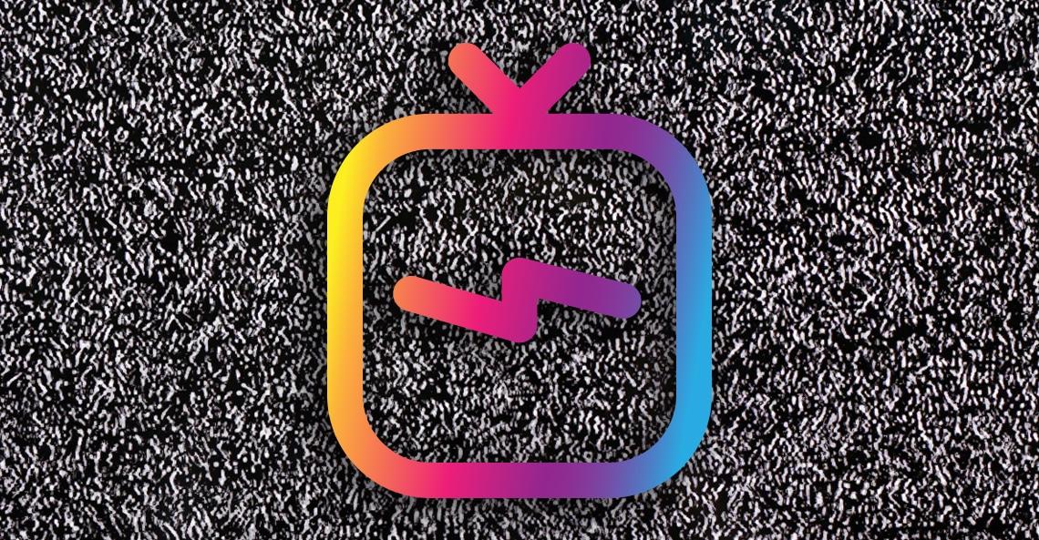 IGTV Logo On A Tv Static